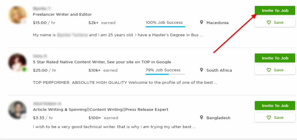 Recruiting UpWork Writers