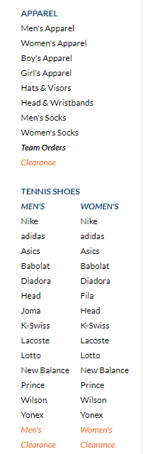 Tennis Warehouse tennis racquets tennis shoes tennis apparel string tennis balls rackets from Babolat Wilson Prince Head Nike Adidas