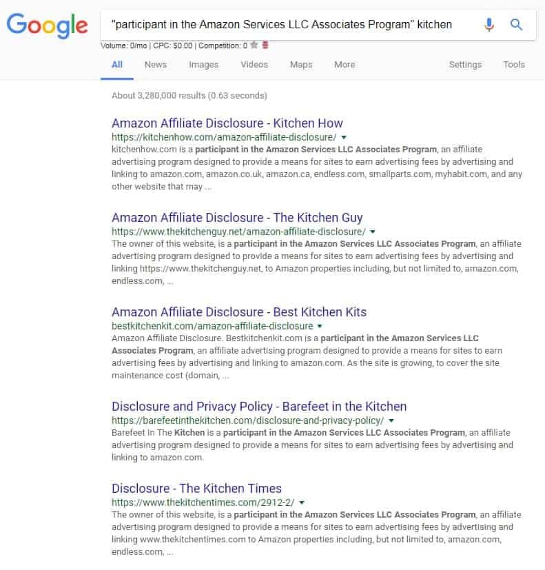 link building SERP example