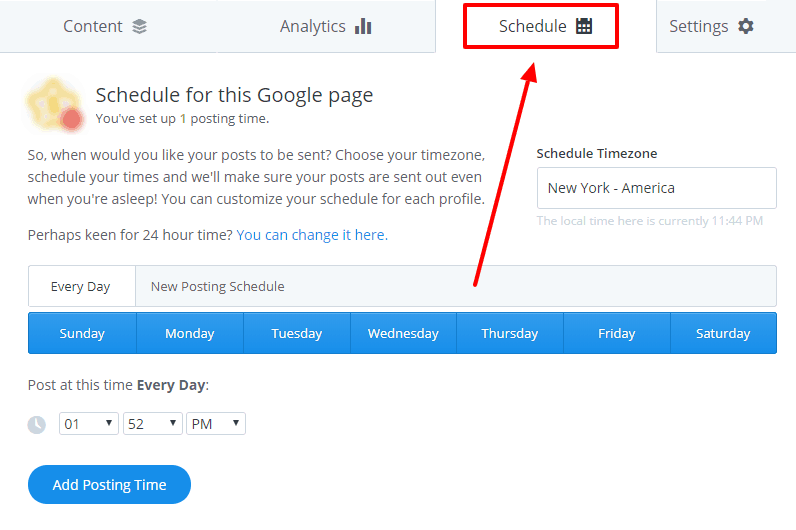 Buffer Schedule Setup Tutorial