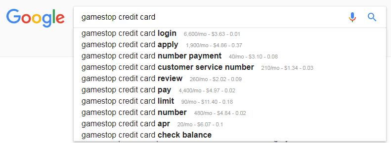 gamestop credit card Google Search