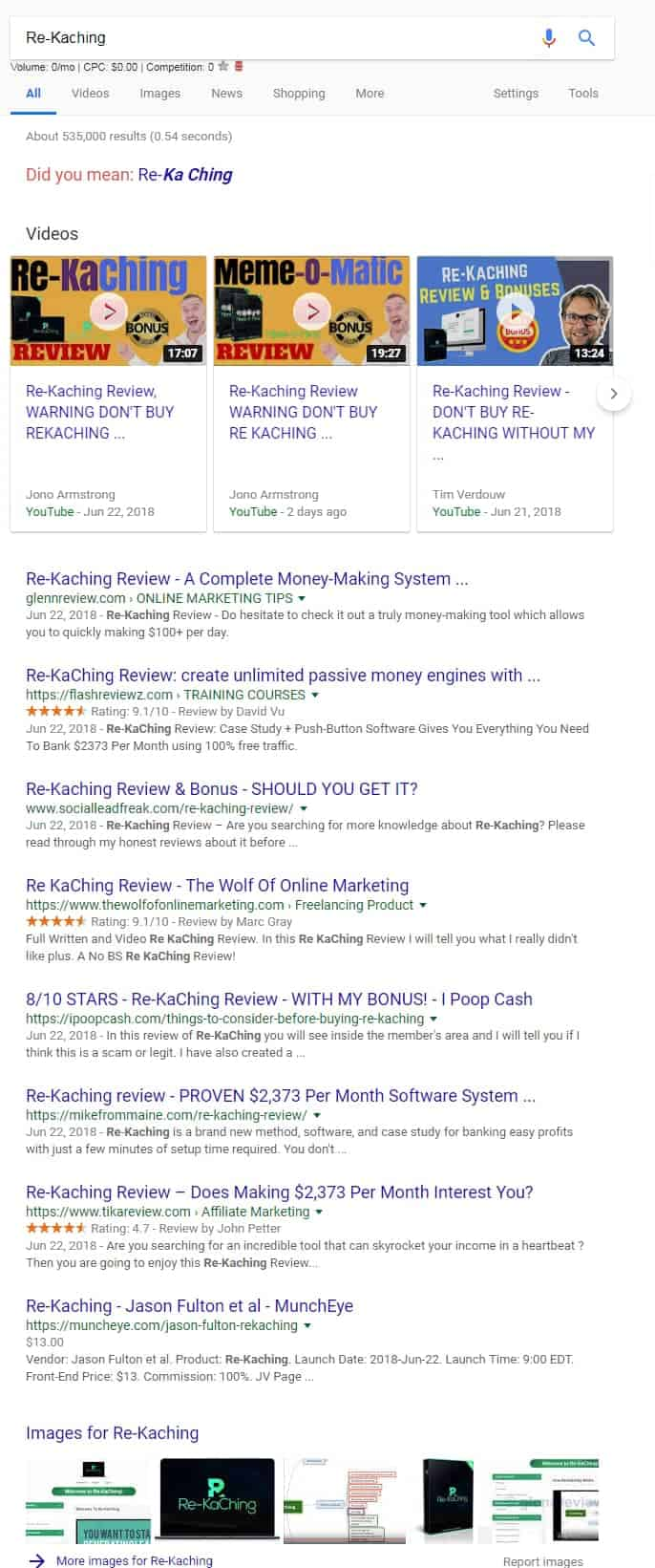rekaching serp example