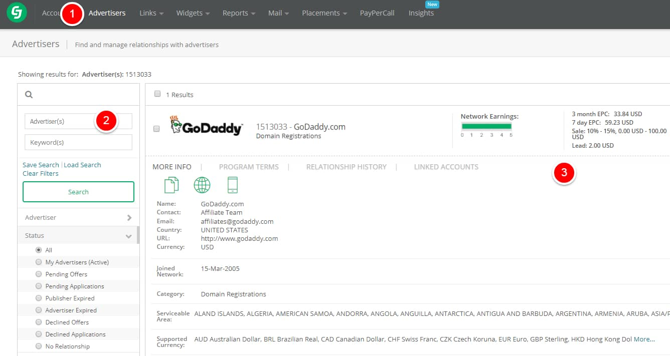 how to sign up for godaddy affiliate program
