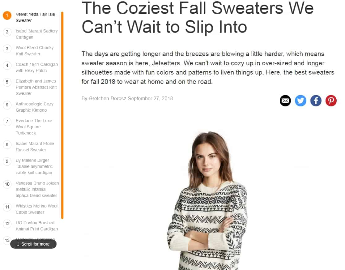 The Best Sweaters for Fall 2018 We Can t Wait to Get Cozy Jetsetter