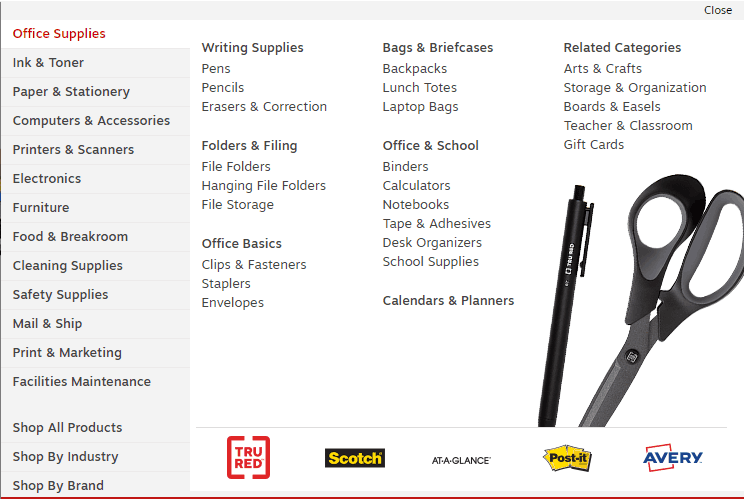 staples products
