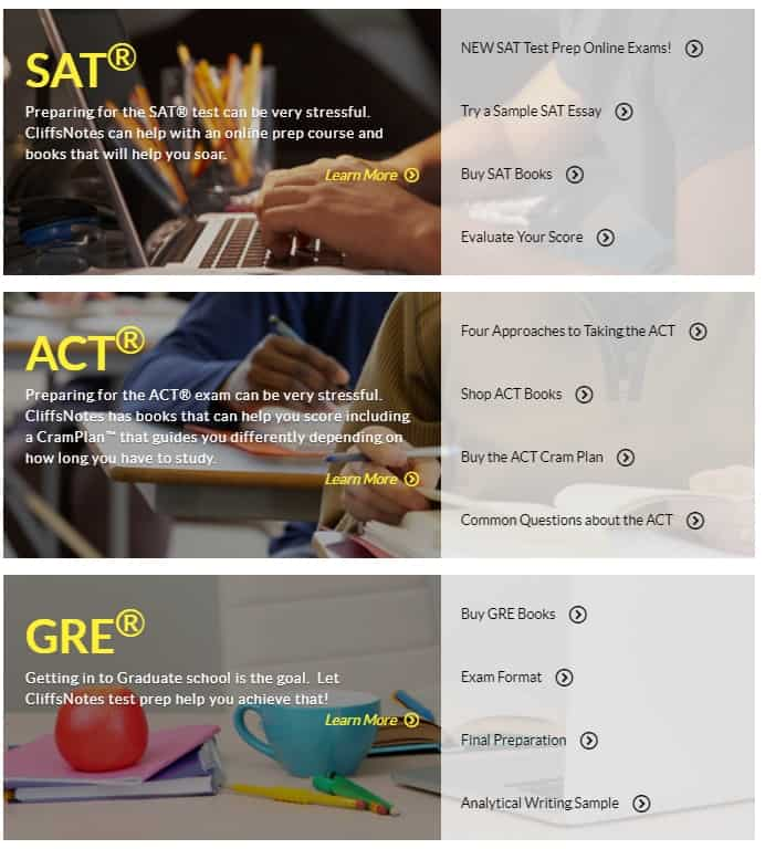 sat act gre example
