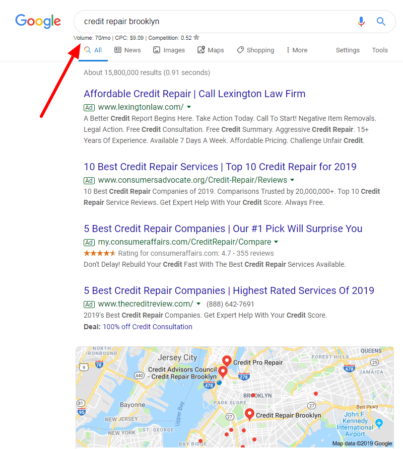 local seo for credit repair