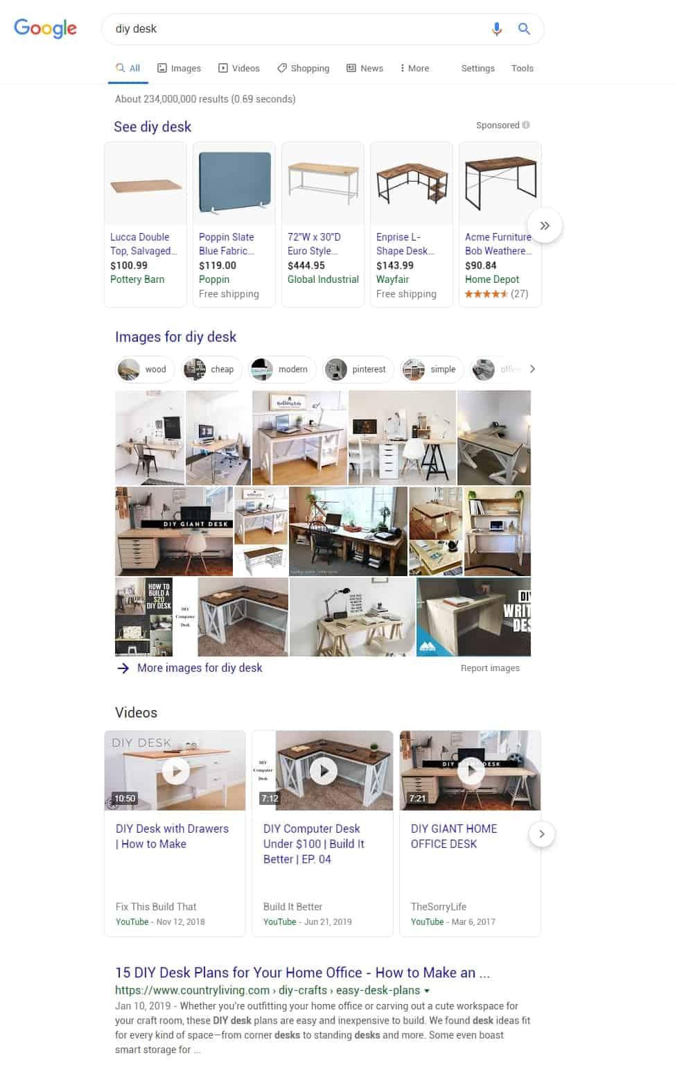 diy desk - Google Search example