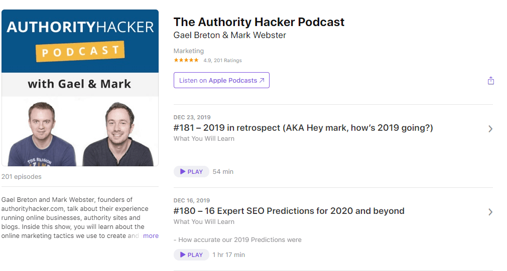 The Authority Hacker Podcast on Apple Podcasts