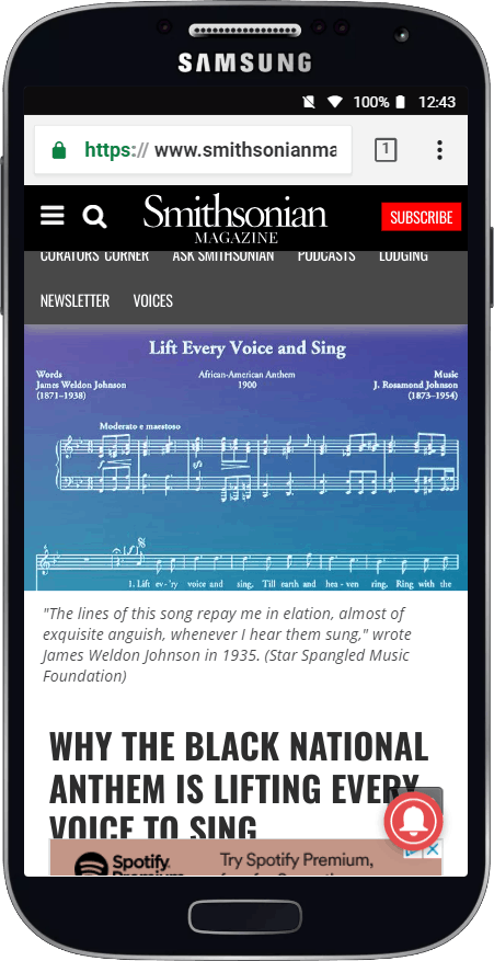 The History of -Lift Every Voice and Sing- - At the Smithsonian - Smithsonian Magazine